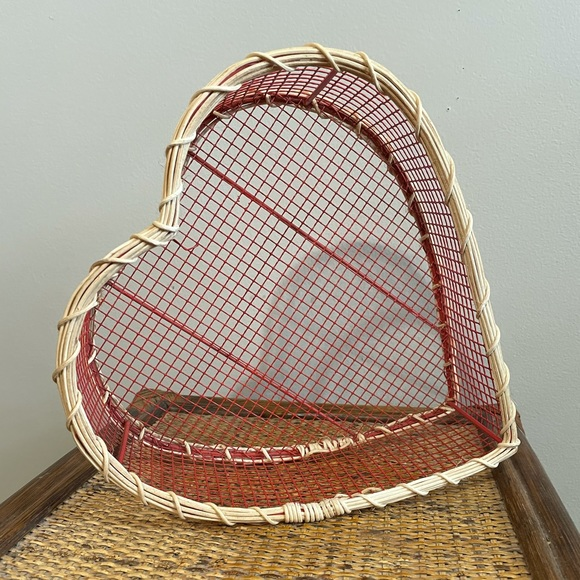 Vintage Heart Basket